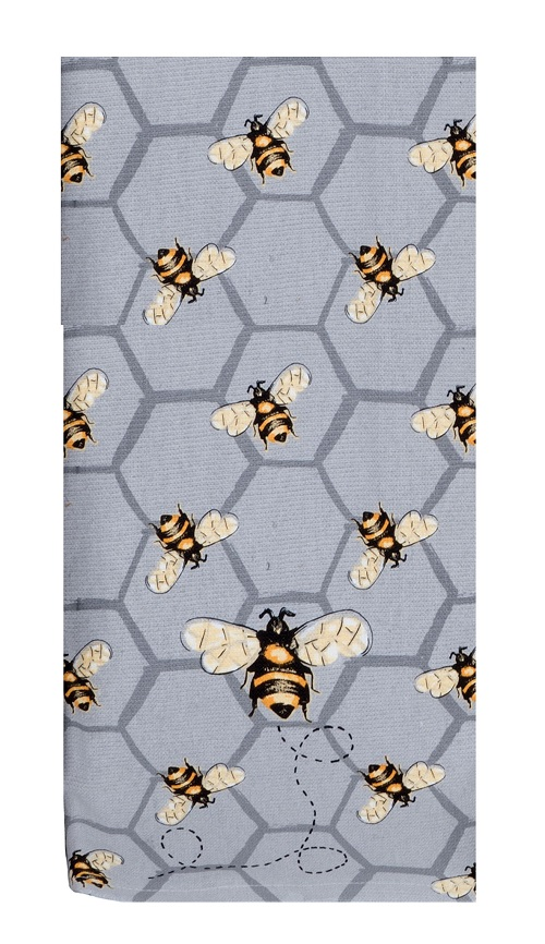 Kay Dee (R4766) Bee Inspired All Over Bee Dual Purpose Terry Towel