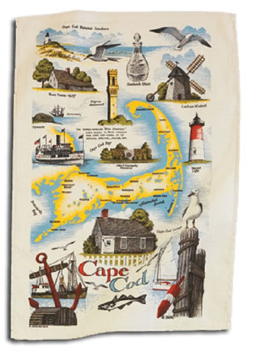Kay Dee (F2025) Linen Towel - Cape Cod Map