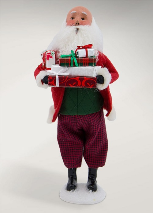 Byers' Choice #3801B Bald Santa with Packages