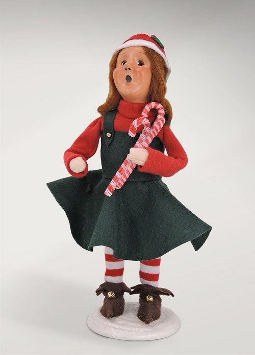 Byers' Choice #3825 Mitzi Elf with Candy Cane
