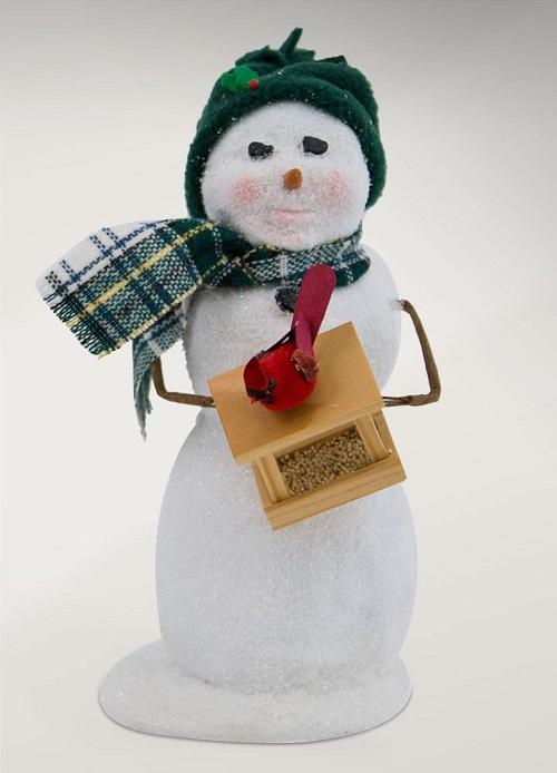 SnowmanWithBirdfeederLarge
