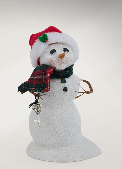 SnowmanWithSantaKeyLarge