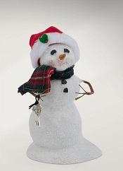 SnowmanWithSantaKeyLittle