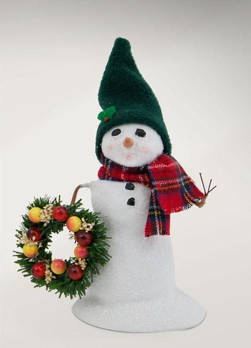 SnowmanWithWreathLarge