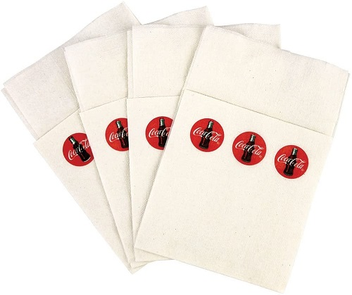 Coca Cola #CC326 Half Size Dispenser Napkins