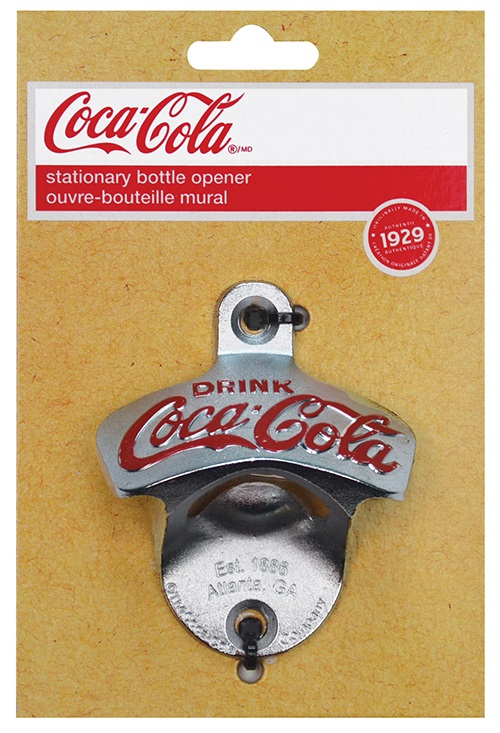 Coca Cola #CC341 Mountable Wall Bottle Opener