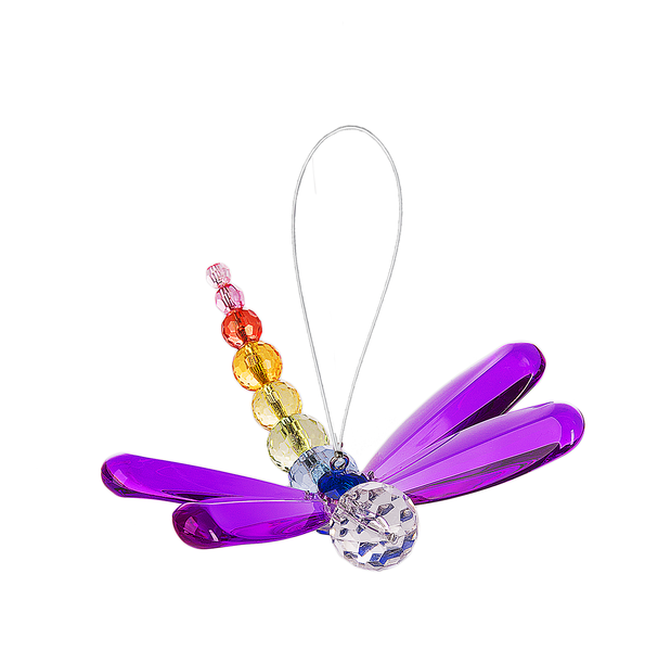 Crystal Expressions by Ganz: Beaded Dragonfly Ornament #ACRY-399 PURPLE (Number 1)
