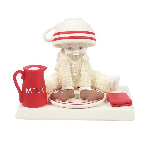 Dept. 56 Snowbabies #6008147 Stealing Santa's Milk and Cookies