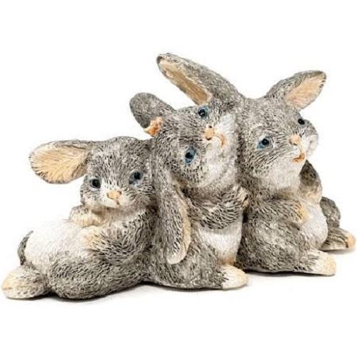 Topland #4768 Bunny Rabbits Cuddling