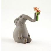 ElephantHoldingUpFlowersLittle