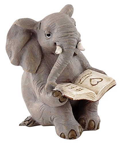 Topland #4565 Elephant Reading Book