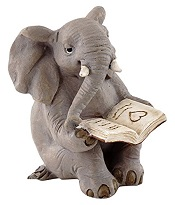 ElephantReadingBookLittle