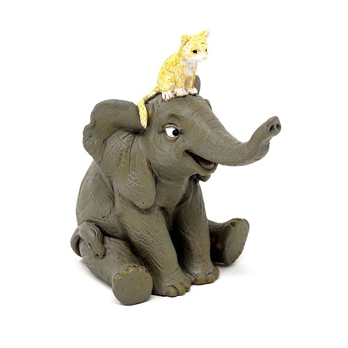 Topland #4778 Elephant with Kitten
