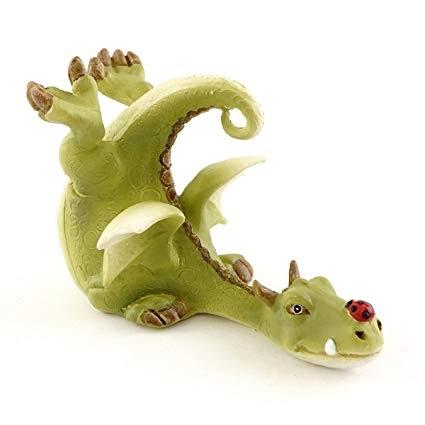 Topland #4536 Green Dragon Playing with Ladybug