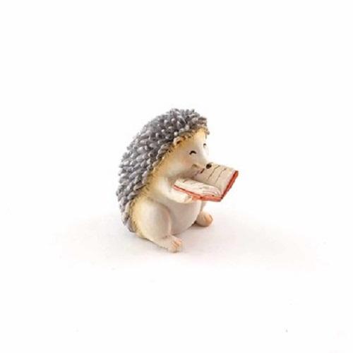 Topland #4619 Little Reading Hedgehog