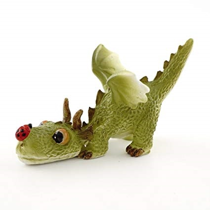 Topland #4414 Mini Dragon Playing with Ladybug