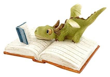 Topland #4535 Mini Dragon Reading
