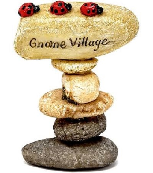 Topland #4789 Mini Gnome Village Stone Sign