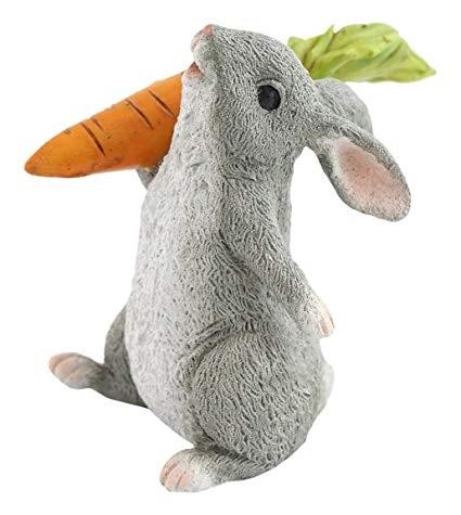 Topland #4428 Rabbit Holding Carrot
