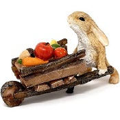 RabbitPushingWheelbarrowWithHarvestLittle