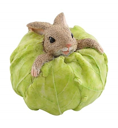 Topland #4430 Rabbit Stuck in Cabbage