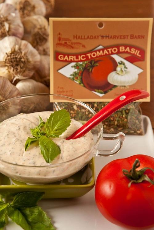 Halladay's Garlic Tomato Basil Dip & Cooking Blend
