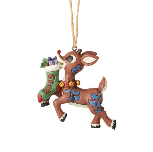 Jim Shore #6004148 2019 Rudolph Stocking Ornament