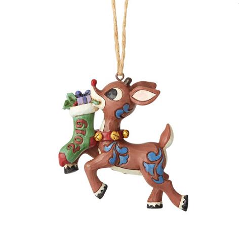 Jim Shore #6004148 2019 Rudolph Stocking Ornament
