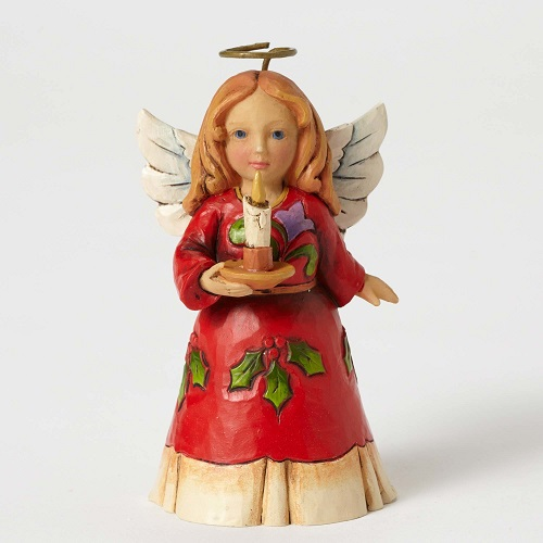 Jim Shore #4053825 Mini Holly Angel with Candle figurine