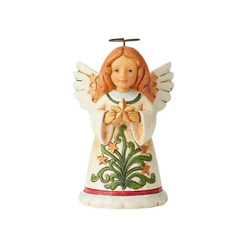 Jim Shore #6004297 Mini Angel with Star