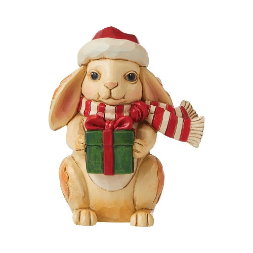 Jim Shore #6009012 Mini Christmas Bunny