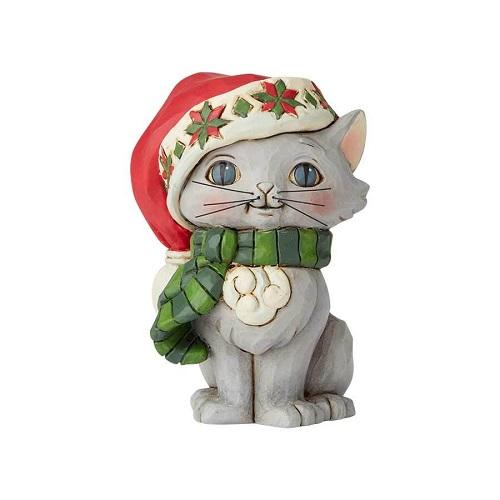 Jim Shore #6004295 Mini Christmas Kitten