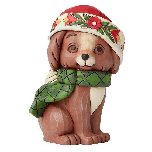 Jim Shore #6004296 Mini Christmas Puppy