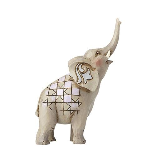 Jim Shore #4055059 Mini Elephant with Raised Trunk