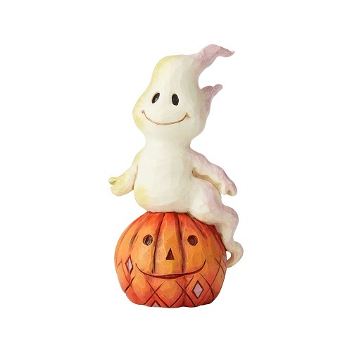 Jim Shore #6004329 Mini Ghost and Pumpkin