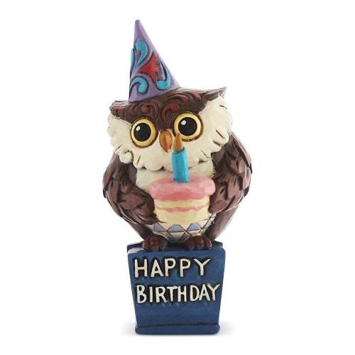 Jim Shore #6003983 Mini Birthday Owl