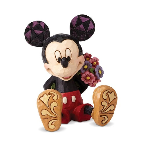 Jim Shore #4054284 Mini Mickey Mouse with Flowers