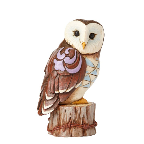 Jim Shore #4055064 Mini Owl on Tree Stump