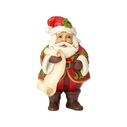 Jim Shore #6001495 Mini Santa Holding List