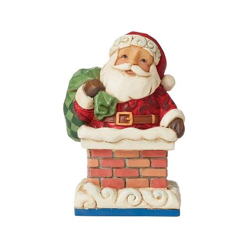 Jim Shore #6009011 Mini Santa in Chimney