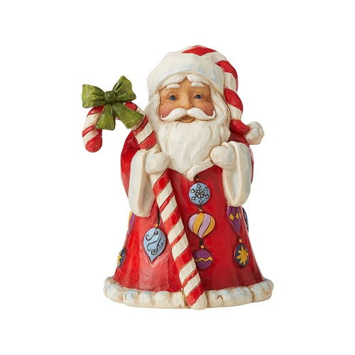 Jim Shore #6006662 Mini Santa With Candy Cane