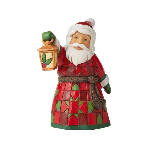 Jim Shore #6006661 Mini Santa With Lantern