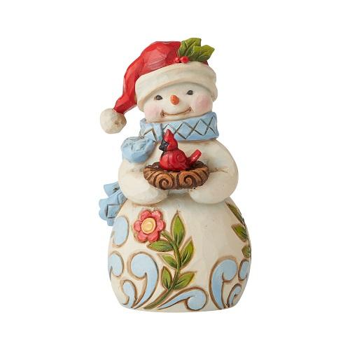 Jim Shore #6006659 Mini Snowman With Cardinal
