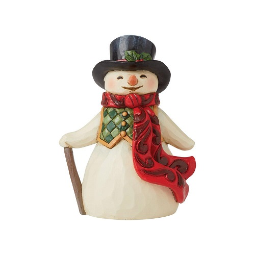 Jim Shore #6009008 Mini Snowman with Long, Red Scarf