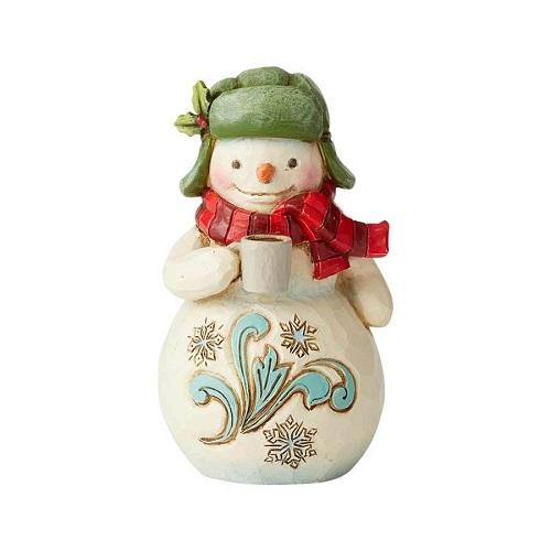 Jim Shore #6004294 Mini Snowman with Mug