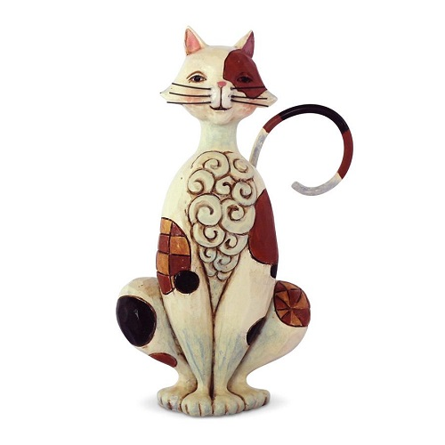 Jim Shore #6003982 Mini Spotted Cat