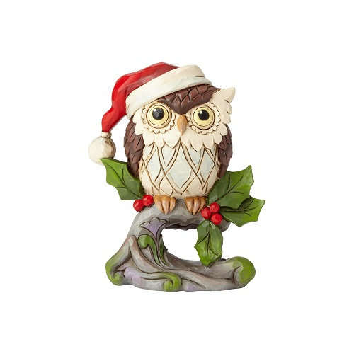 Jim Shore #6001498 Mini Christmas Owl on Branch