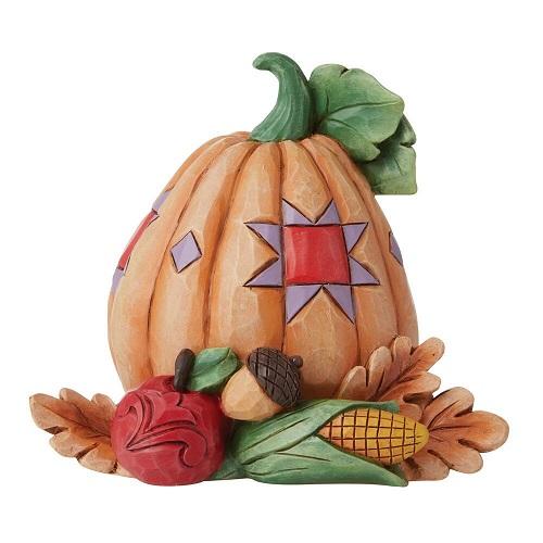 Jim Shore #6009475 Mini Pumpkin with Bounty