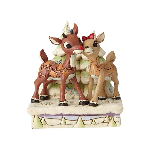 Jim Shore #6001588 Rudolph and Clarice by Trees