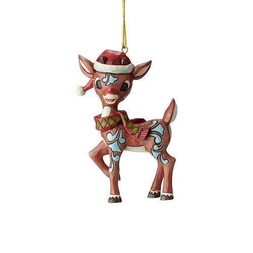 Jim Shore #6001599 Rudolph in Santa Hat Ornament